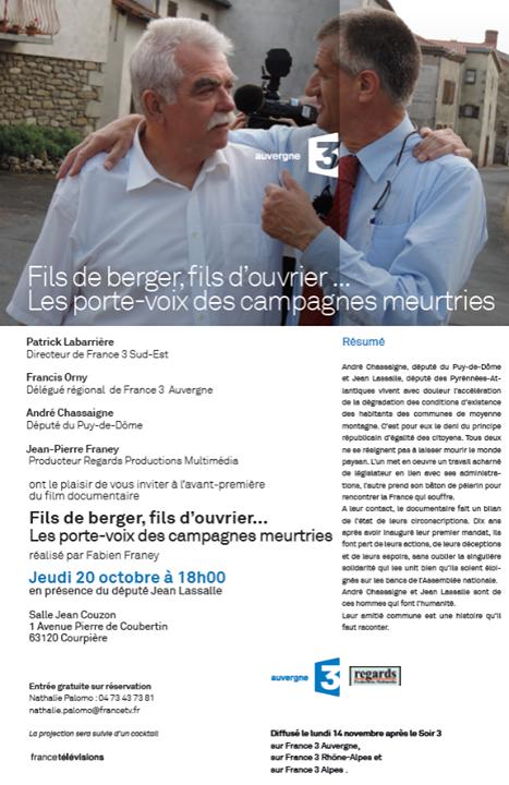 si vous voulez changer de point de vue sur les hommes politiques, mixé chez One More Sound, diffusé en novembre sur France 3, production Regards Productions Multimédia