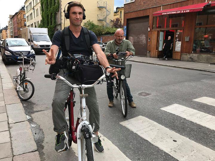 en tournage sportif à Stockholm pour #EchappeesBellesF5
